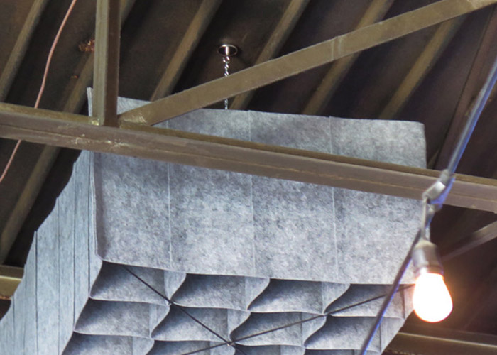 Centro Anni Ceiling with HUSH by Quell Acoustics