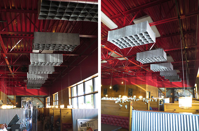 Crazy Horse Steak House-Saloon Ceiling with HUSH by Quell Acoustics